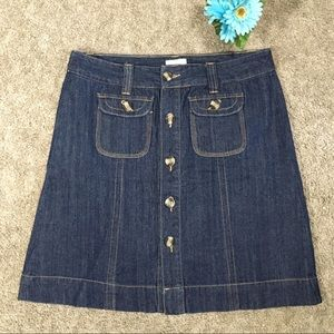 Christopher & Banks Jean Skirt Sz 10